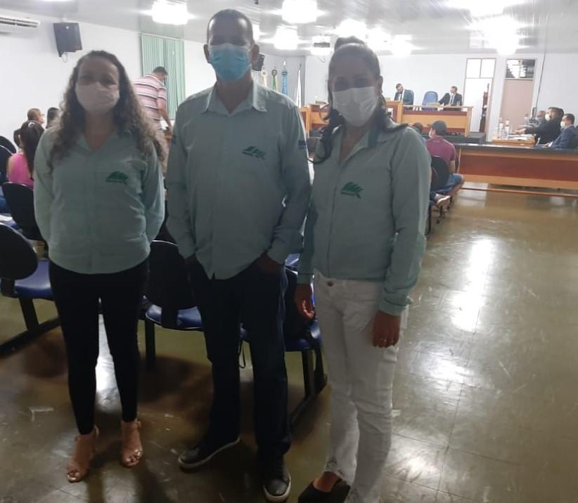 Equipe do escritório da EMATER em Cerejeiras que foi homenageada em sessão solene nesta segunda-feira (30)