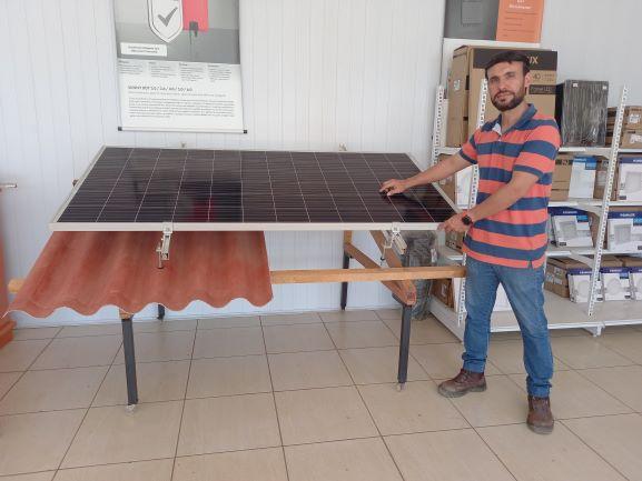 Avanço da energia solar gera oportunidade para empresas do setor, como a Paese Energy, do engenheiro elétrico Leandro Paese, de Cerejeiras. (Foto: Rildo Costa)