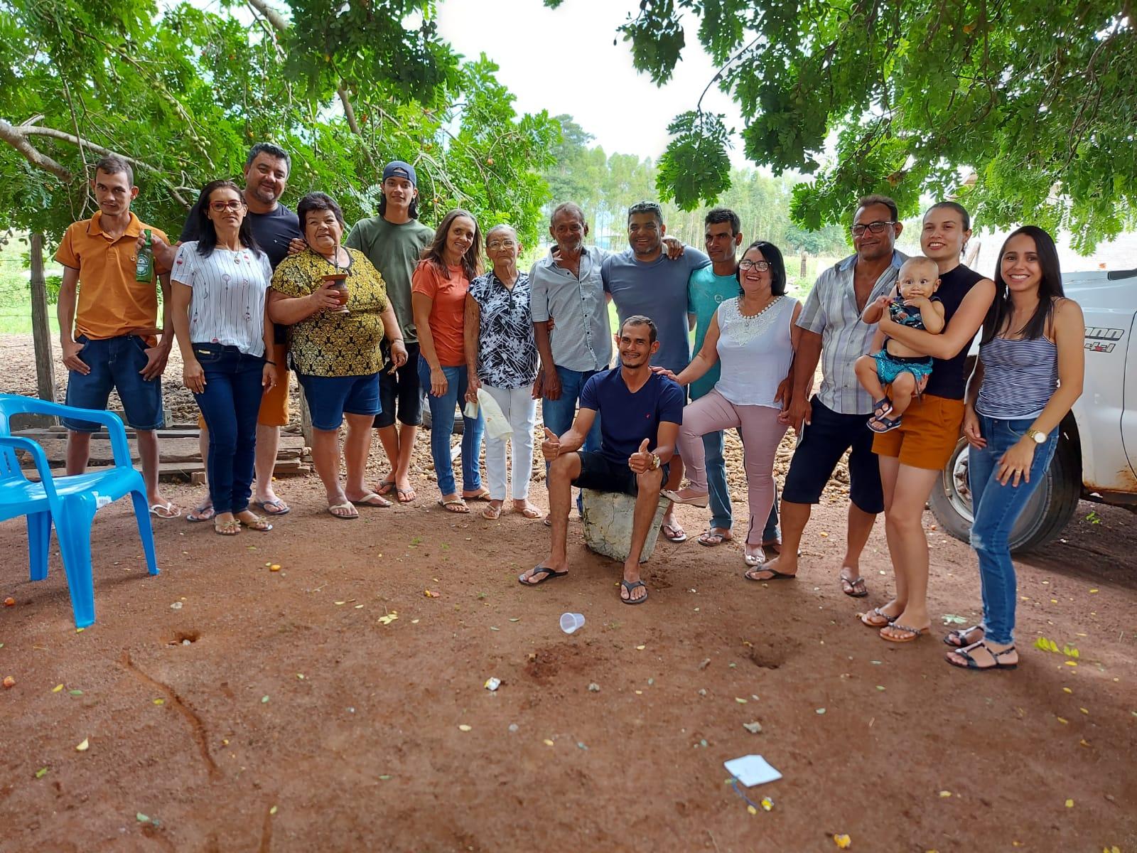 Lourival Celso da Silva reunido com familiares no natal de 2020 (crédito de imagem: Reprodução)