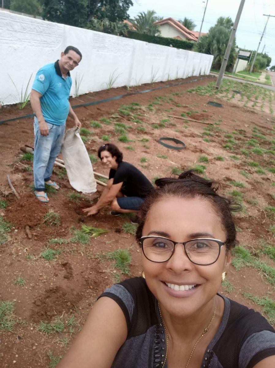 Maria de Jesus Gaviraghi, Neuza Silveira e Genézio Gomes