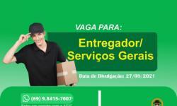 Entregador e Serviços Gerais