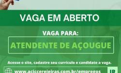 ATENDENTE DE AÇOUGUE