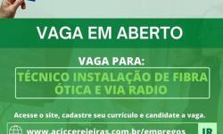 Técnico em instalação de fibra ótica e via rádio
