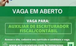 Auxiliar de escriturador fiscal/contábil