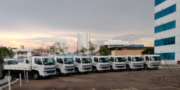 Com recurso de 2,9 milhões destinados pelo deputado Lúcio Mosquini, Rondônia adquire frota de caminhões para municípios