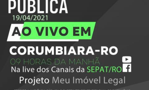 CORUMBIARA: Governo de Rondônia realiza Audiência Pública Online nesta segunda-feira (19)
