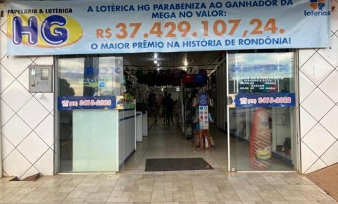 Apostador de Rondônia saca prêmio de R$ 37 milhões da Mega-Sena sete dias após sorteio, diz Caixa