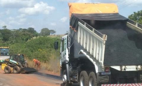 Operação tapa-buracos do DER é concluída entre Cerejeiras e Corumbiara