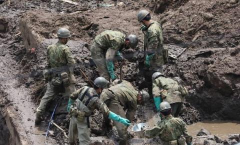 Deslizamento de terra no Japão deixa 15 mortos e 14 desaparecidos