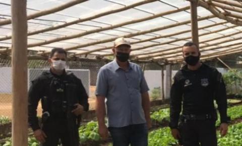 Secretário de Agricultura visita Horta no sistema prisional de Cerejeiras