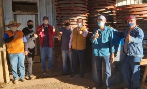 Luizinho Goebel destina recursos para fábrica de manilhas e bloquetes em Vilhena