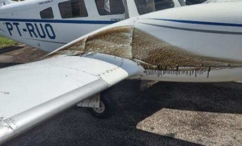 Avião que levava equipe do governo do Acre sofre pane no motor e faz pouso de emergência
