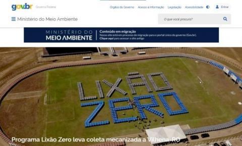 Ministério do Meio Ambiente usa Vilhena como capa em seu site nacional
