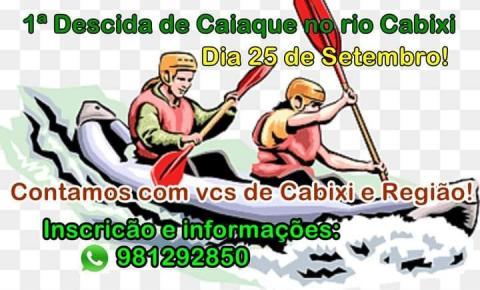 Acontece em setembro a 1º descida de Caiaque no Rio Cabixi