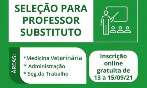 IFRO Jaru seleciona professores de Medicina Veterinária, Administração e Segurança do Trabalho