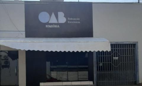 Doação de terreno para construção da sede da Subseção de Cerejeiras atende o interesse público, afirma OAB