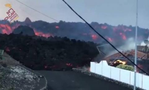 Fluxo de lava impede passagem de cientistas em La Palma