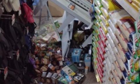 Ladrões arrombam e furtam supermercado durante a madrugada em Cerejeiras