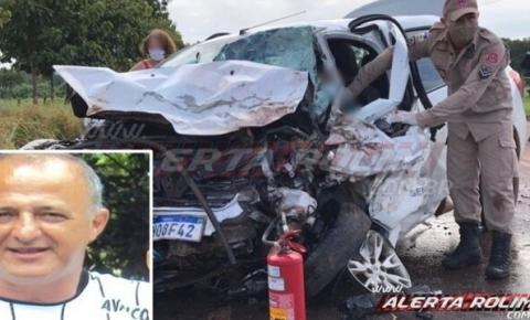 Grave acidente mata servidor público em rodovia estadual